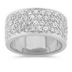 Round Diamond Ring with Pavé-Setting
