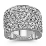 Round Diamond Ring with Pavé-Setting