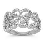 Round Diamond Swirl Ring