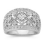 Round Diamond Vintage Ring