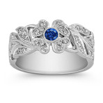 Sapphire and Diamond Vintage Ring