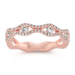 Stackable Round Diamond Ring in 14k Rose Gold
