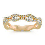 Stackable Round Diamond Ring in 14k Yellow Gold