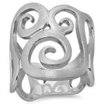 Swirl Statement Ring in Sterling Silver