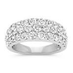 Triple Row Round Diamond Ring