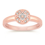 Vintage Diamond Cluster Ring in Rose Gold