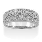 Vintage Diamond Ring with Pavé Setting