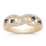 Vintage Round Sapphire and Diamond Ring
