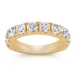 Ten Stone Diamond Wedding Band in Yellow Gold