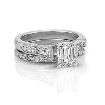 shop vintage - Vintage Wedding Ring Set
