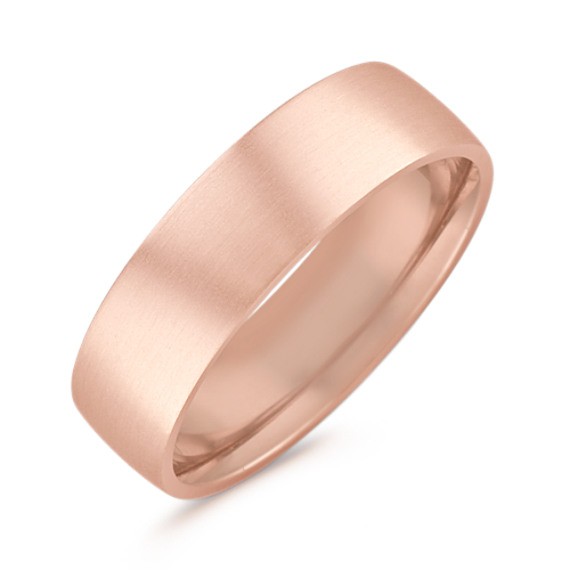 14k Rose Gold Comfort Fit Ring (6.5mm)