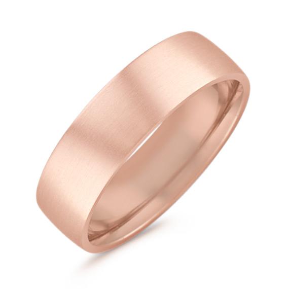 14k Rose Gold Comfort Fit Ring (6.5mm)