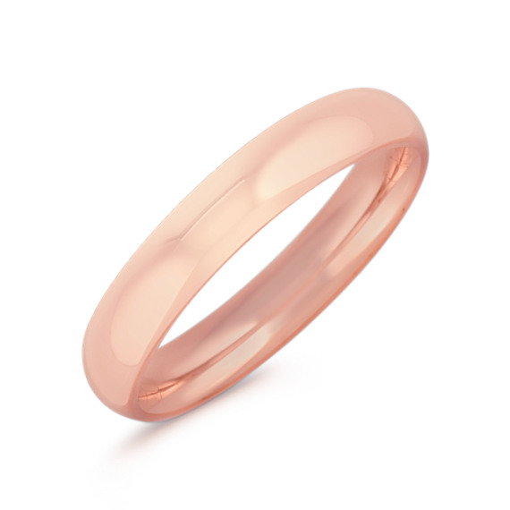 14k Rose Gold Comfort Fit Wedding Ring (4mm)