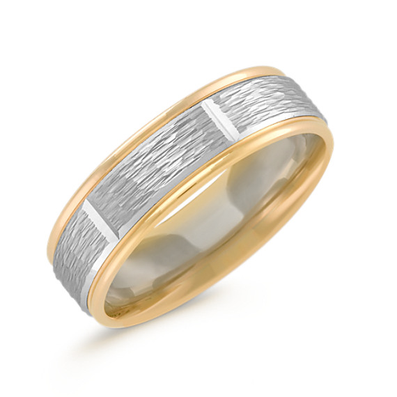 14k Two-Tone Gold Ring (6mm)