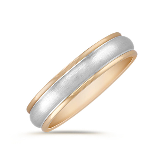 14k Two-Tone Gold Wedding Band (5mm)