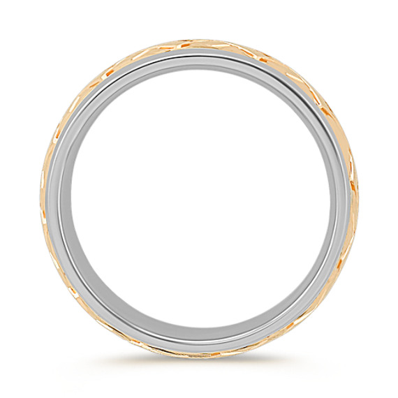 14k Two-Tone Gold Wedding Band (7mm)