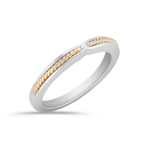 14K Two-Tone Gold Wedding Band