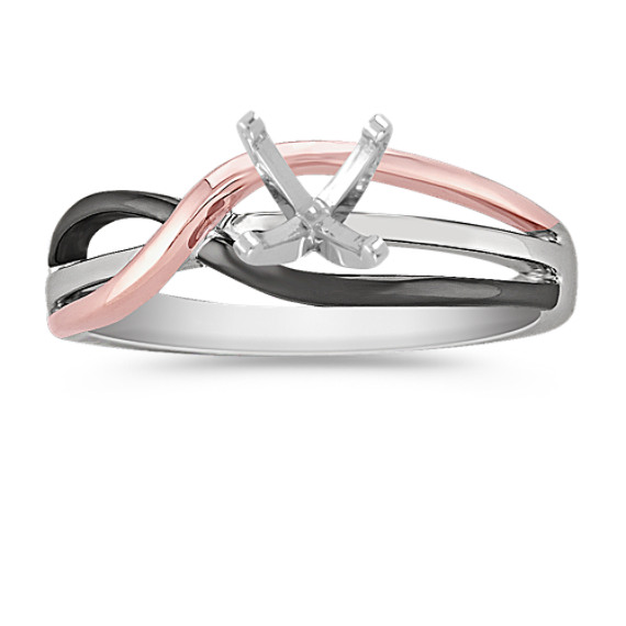 14k White and Rose Gold Ring