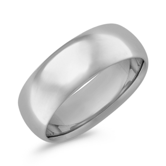 14k White Gold Comfort Fit Ring (8mm)