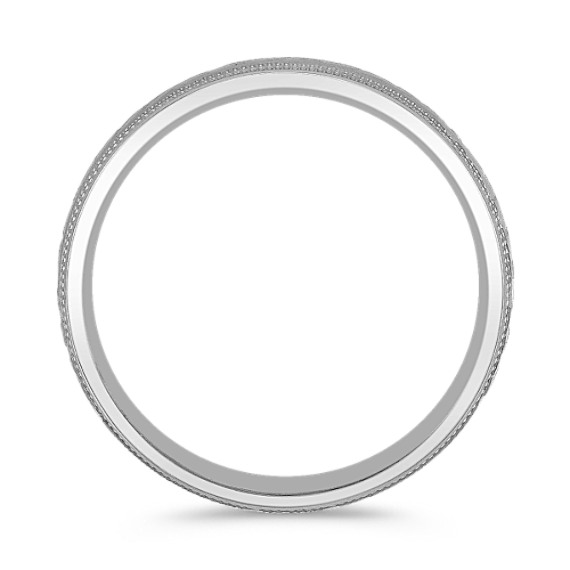 14k White Gold Comfort Fit Ring (6mm)