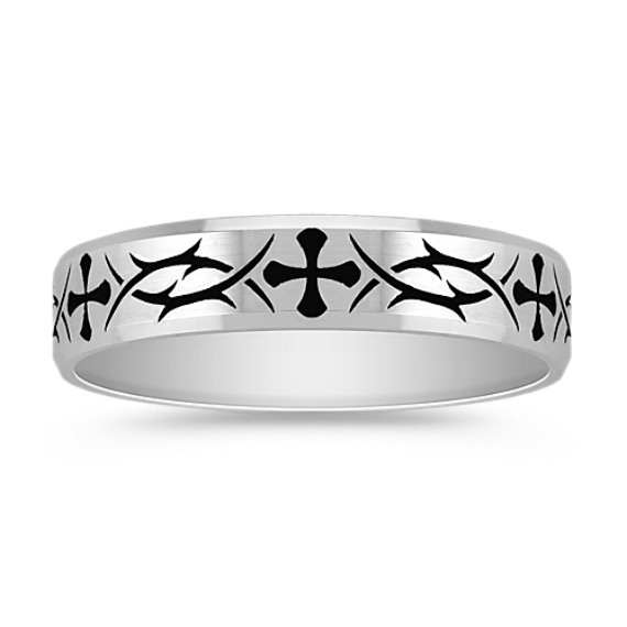 14k White Gold Comfort Fit Ring (5mm)