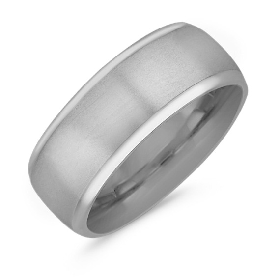 14k White Gold Comfort Fit Wedding Band (8.5mm)