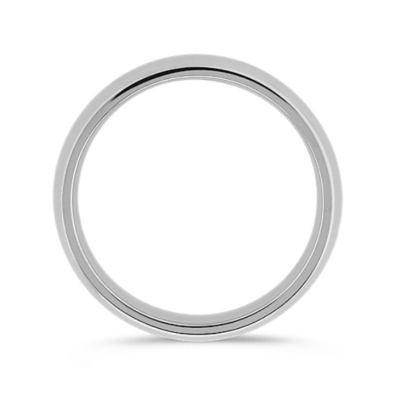 14k White Gold Comfort Fit Wedding Band (5mm)