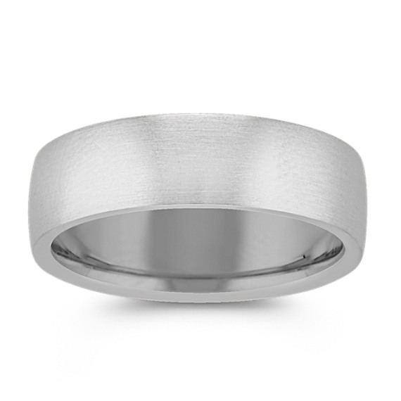 14k White Gold Comfort Fit Wedding Band (6.5mm)