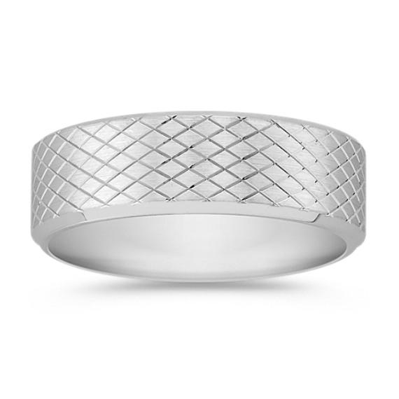 14k White Gold Comfort Ring (7mm)