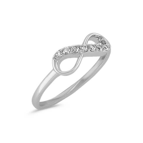 14k White Gold Diamond Infinity Ring
