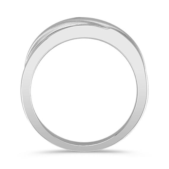 14k White Gold Engraved Ring (6.5mm)