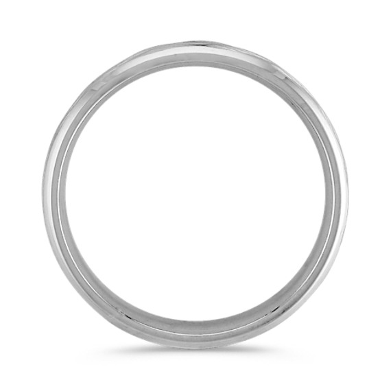 14k White Gold Engraved Ring (6mm)