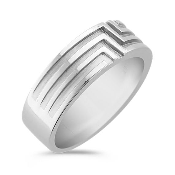 14k White Gold Ring for Him (7mm)