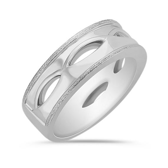 14k White Gold Ring for Him (7.5mm)