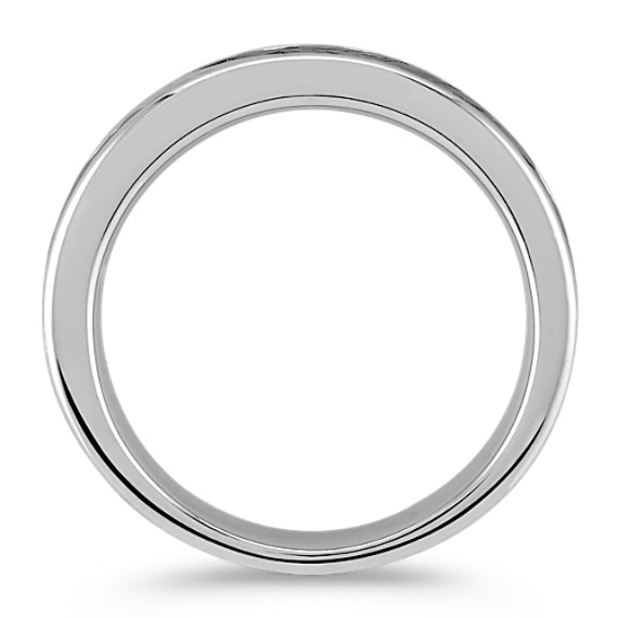 14k White Gold Ring with Black Ruthenium (6mm)