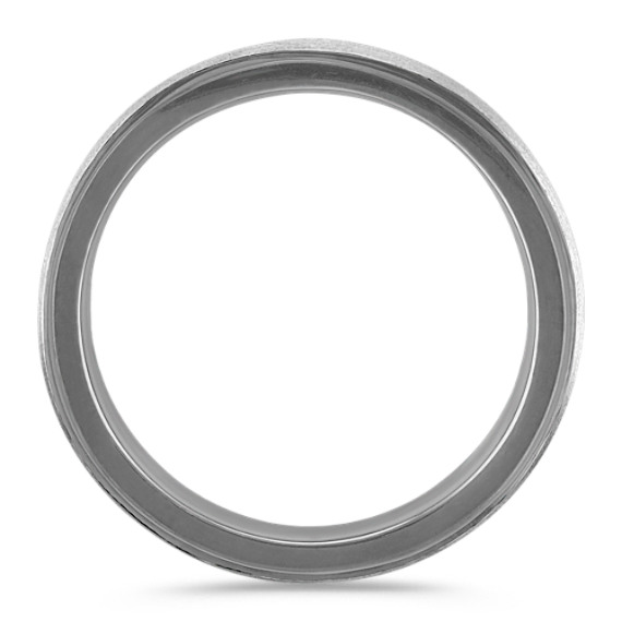 14k White Gold Ring with Black Ruthenium (7mm)