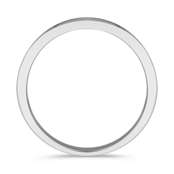 14k White Gold Ring with Sandblasted Finish (6.5mm)