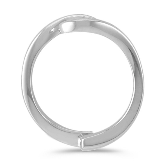 14k White Gold Solitaire Engagement Ring Guard