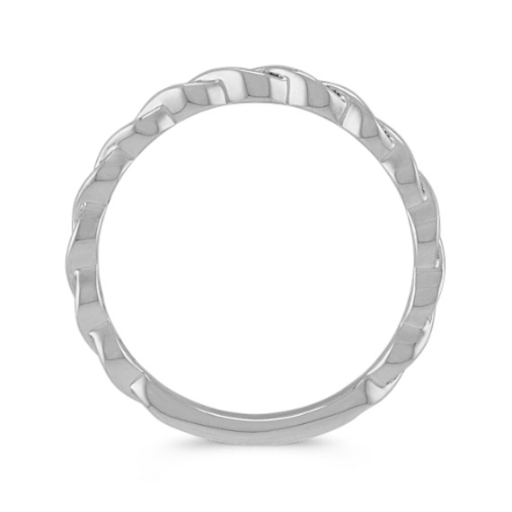 14k White Gold Stackable Twist Ring