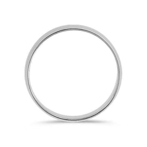 14k White Gold Wedding Band (5mm)