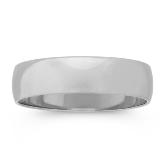 14k White Gold Wedding Band (5mm)