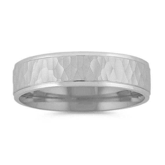14k White Gold Wedding Band (6mm)