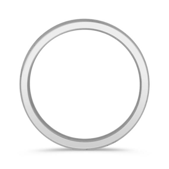 14k White Gold Wedding Band (6mm)