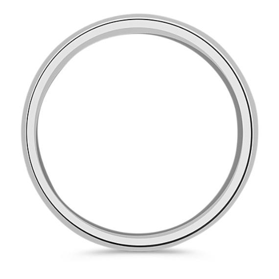 14k White Gold Wedding Band (8.5mm)