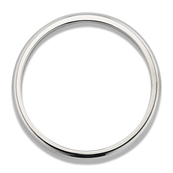 14k White Gold Wedding Band (2mm)