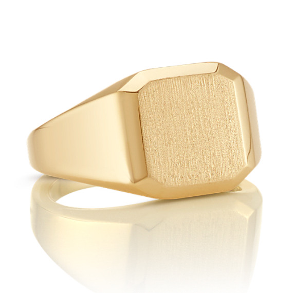 14k Yellow Gold Band with Satin Finish (13mm)