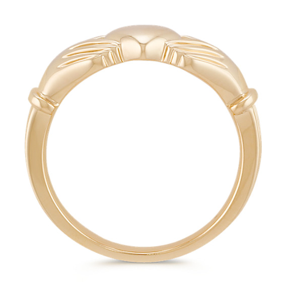 14k Yellow Gold Claddagh Ring for Men