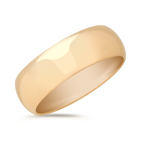 14k Yellow Gold Comfort Fit Wedding Band (7mm)