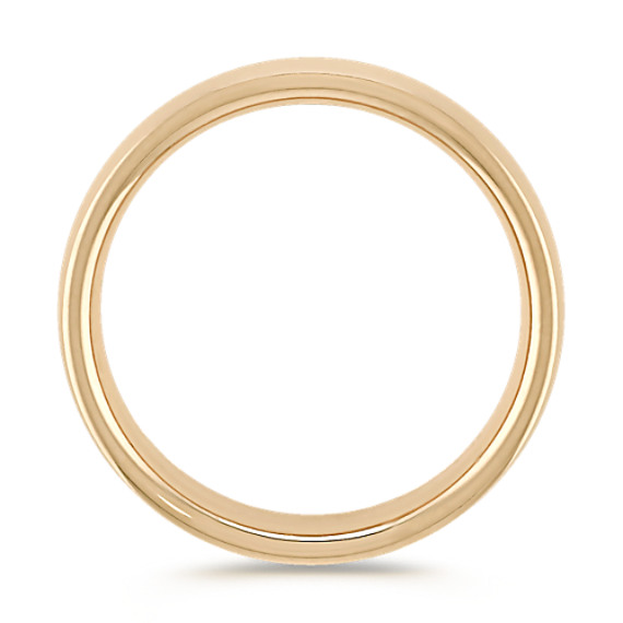 14k Yellow Gold Comfort Fit Wedding Band (6.5mm)