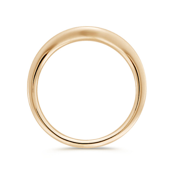 14k Yellow Gold Contour Wedding Band